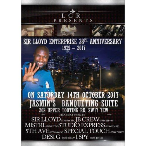 Sir Lloyd Enterprise 38th Anniversary 1979 - 2017 | Blacknet UK