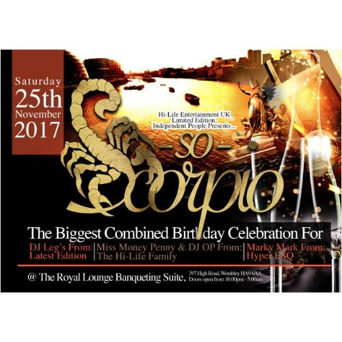 SO SCORPIO THE BIGGEST COMBINED BIRTHDAY CELEBRATION | Blacknet UK