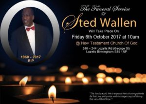 The Funeral Service of STED WALLEN   Blacknet UK