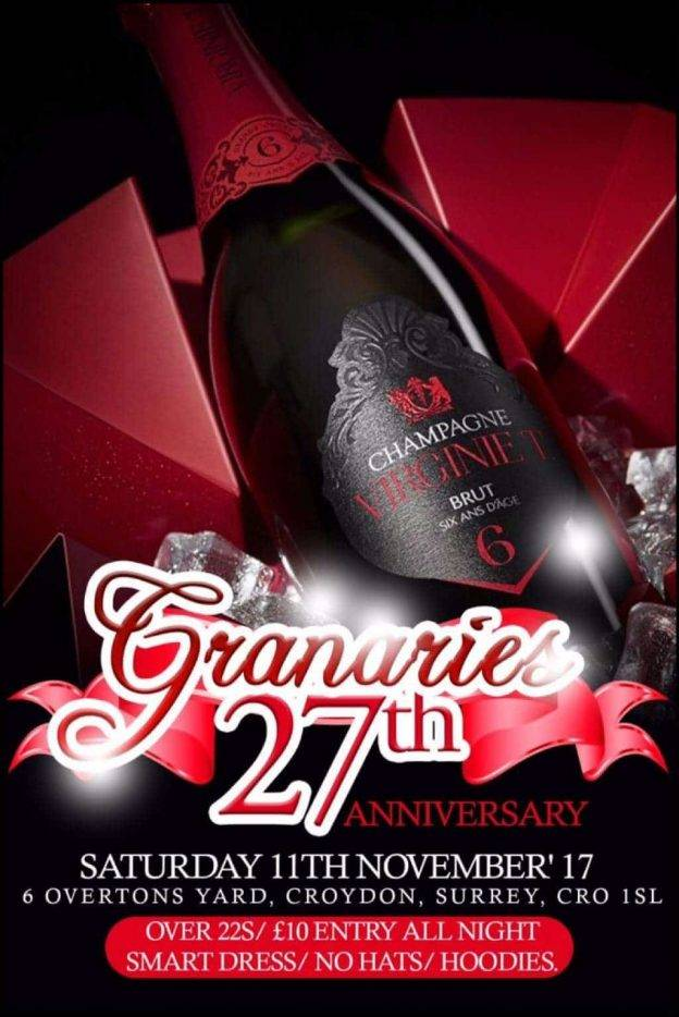 The Granaries 27th Year Anniversary 2017 | Blacknet UK