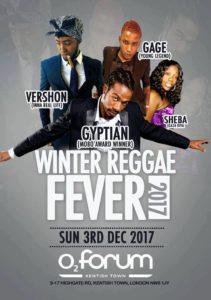 Winter Reggae Fever 2017 With Gyptian | Vershon | Gage | Sheba | Blacknet UK