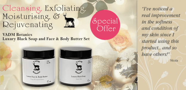 Black Soap and Face and Body Butter Set