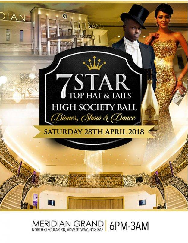 The 7 Star High Society Top Hat and Tails Dinner and Dance Ball