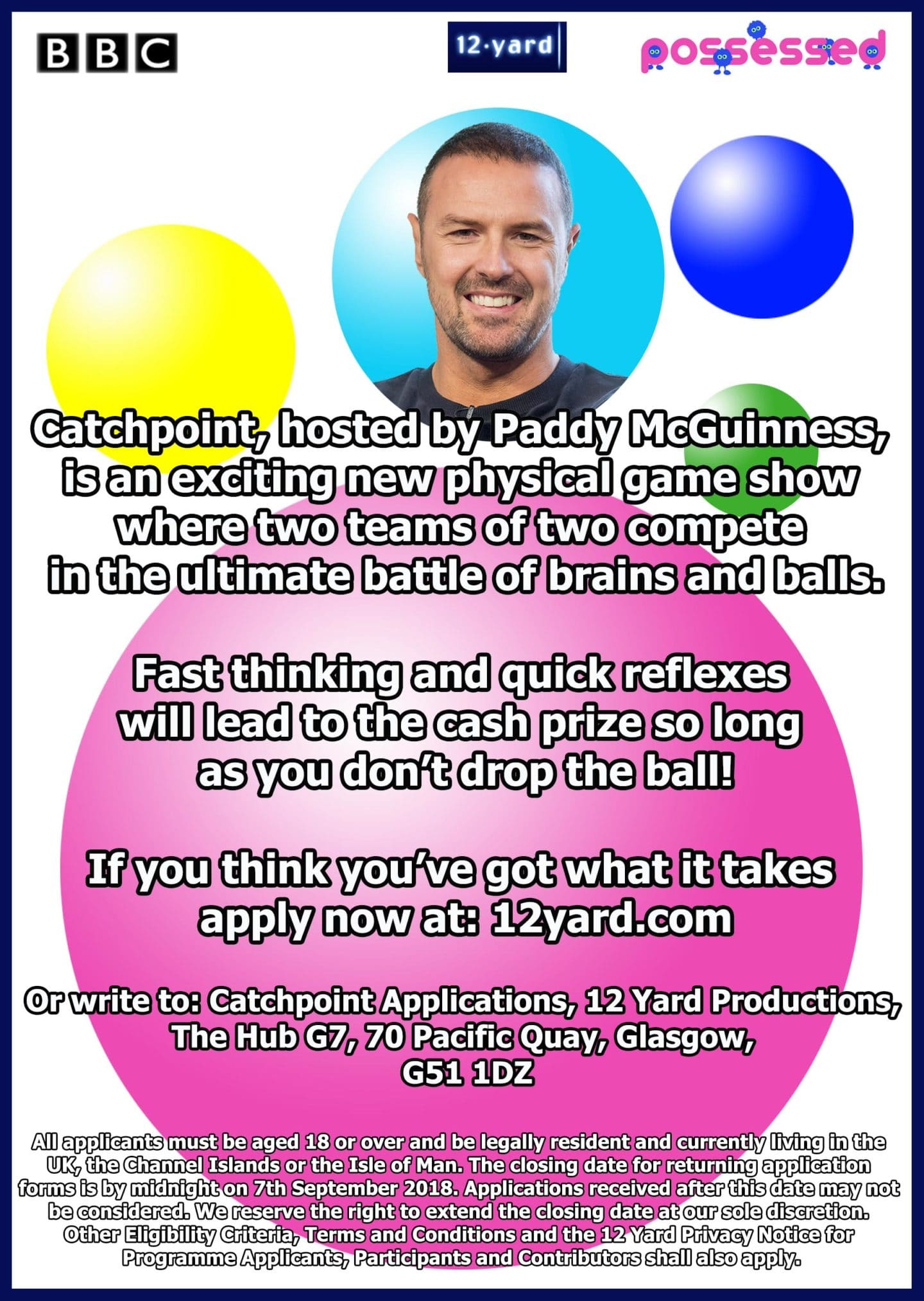 Catchpoint hosted by Paddy McGuiness an exciting new physical game show