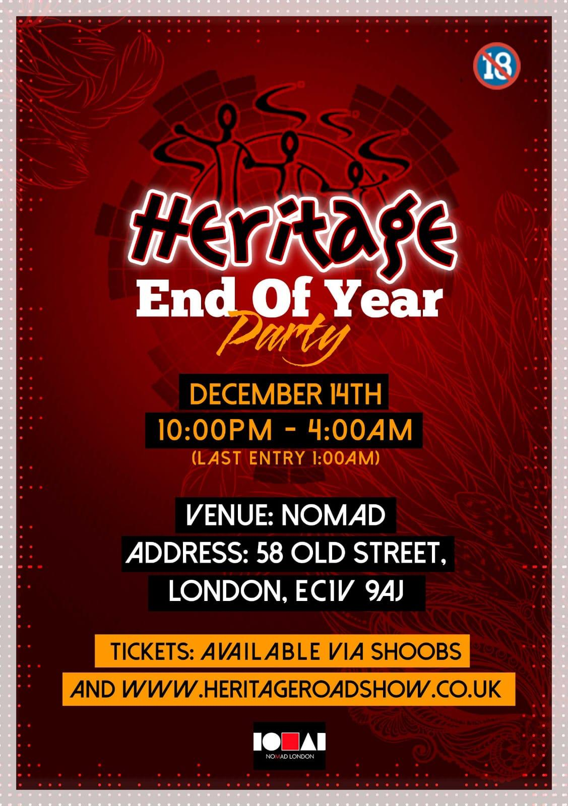 Heritage End of Year Party