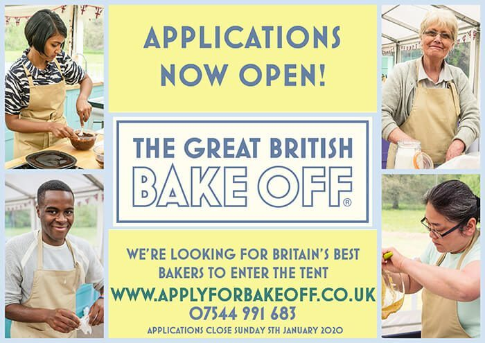 Could you be in the class of 2020?  Applications for THE GREAT BRITISH BAKE OFF are NOW open!